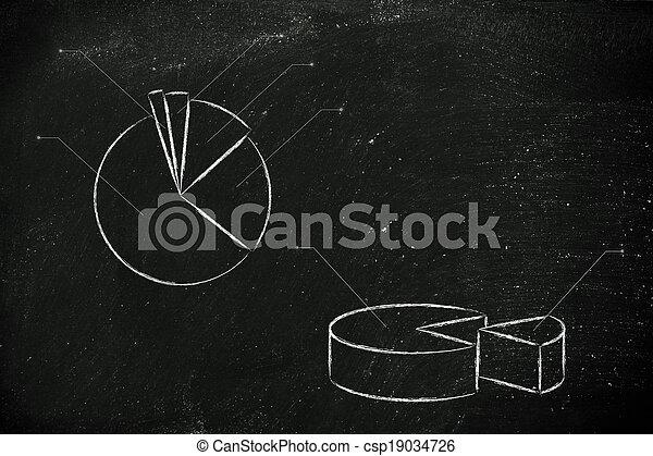 business stats: pie chart graph - csp19034726
