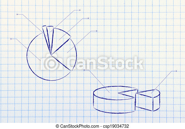 business stats: pie chart graph - csp19034732
