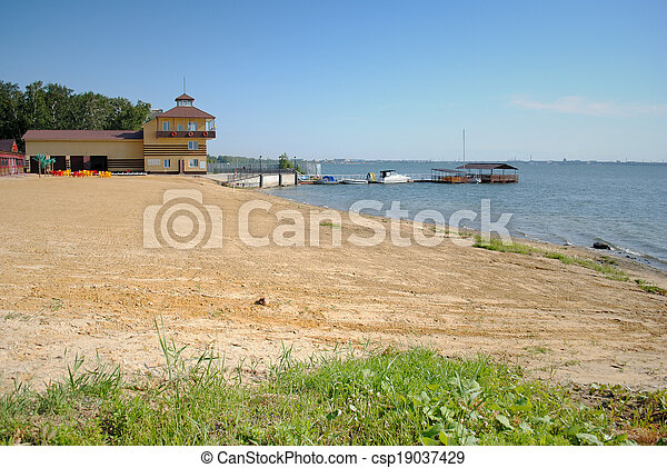 Russian restaurant near the lake