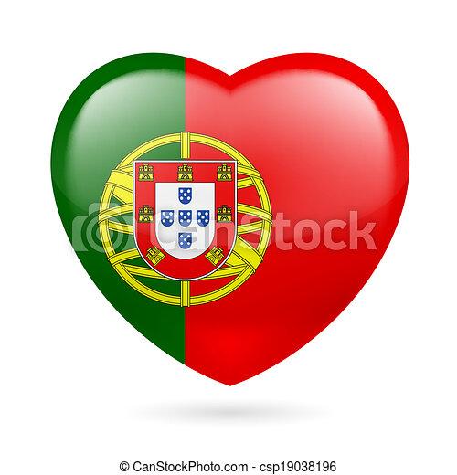 Vecteurs eps de coeur ic ne portugal coeur portugais - Dessin du portugal ...
