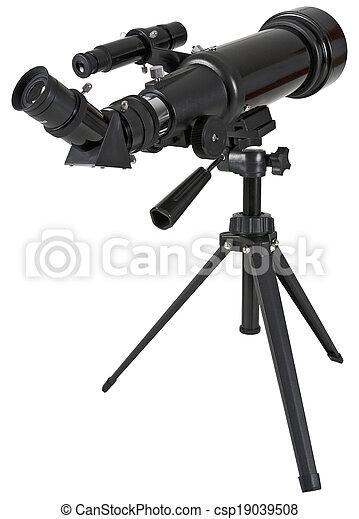 Astronomy telescope with tripod - csp19039508