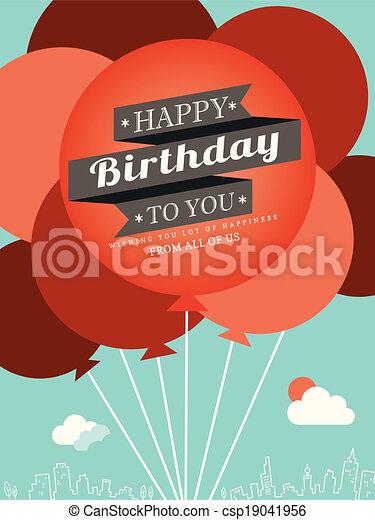 Birthday card design template - csp19041956