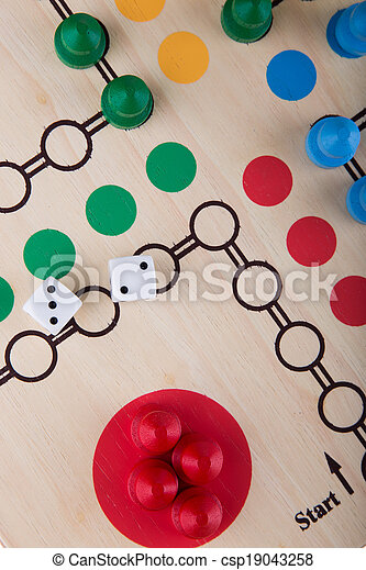 Colored board game