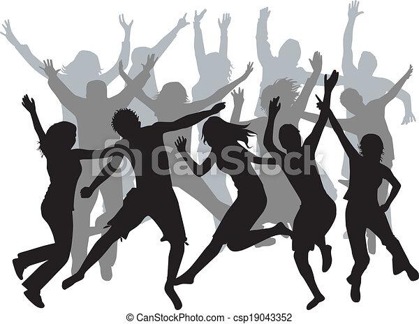 people jumping - csp19043352