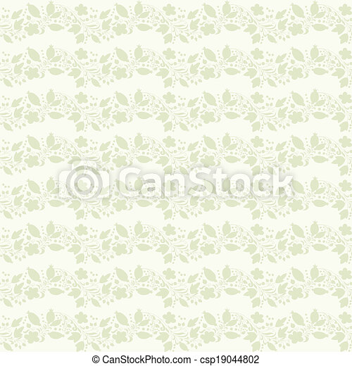 clipart vecteur de neutre beige plante papier peint neutre floral csp19044802. Black Bedroom Furniture Sets. Home Design Ideas