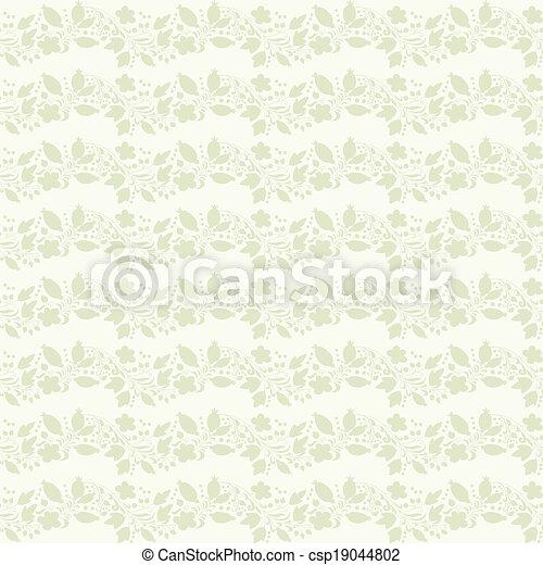 clipart vecteur de neutre beige plante papier peint neutre floral csp19044802. Black Bedroom Furniture Sets. Home Design Ideas