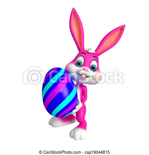 Cute Easter Bunny - csp19044815