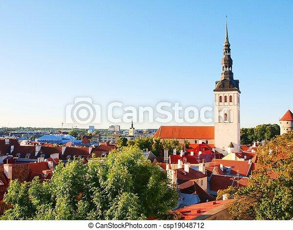 Aerial view of the Tallinn. Estonia - csp19048712