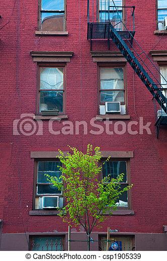 Old apartment buildings - csp1905339