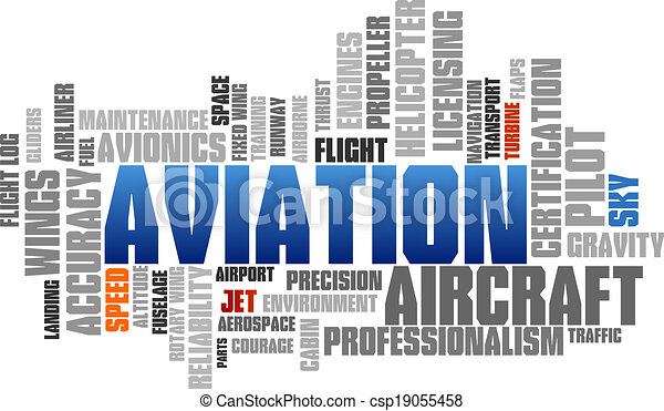 Aviation Word Cloud Blue Bubble Tags Tree Vector - csp19055458