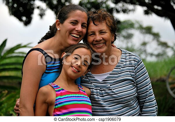 Three generations of Hispanic women - csp1906079