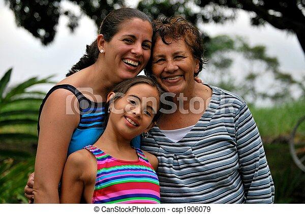 Three generations of Hispanic women - csp1906079