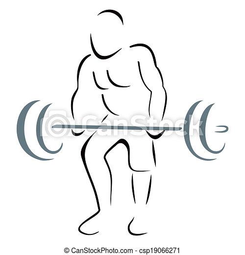 Weight lifter - csp19066271