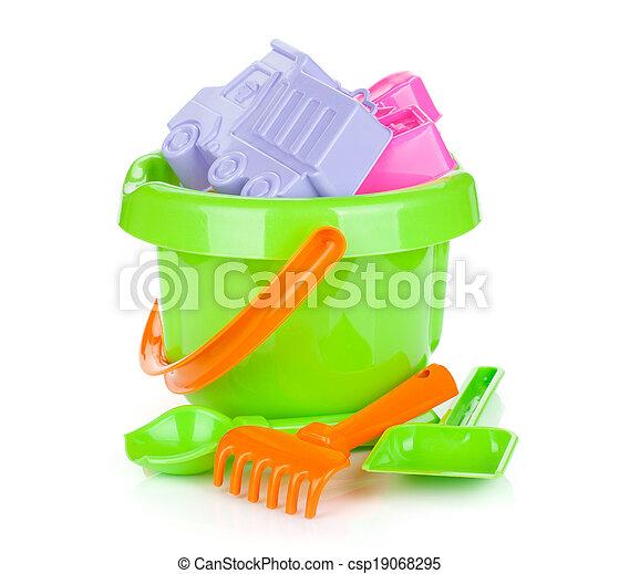 Baby beach sand toys - csp19068295