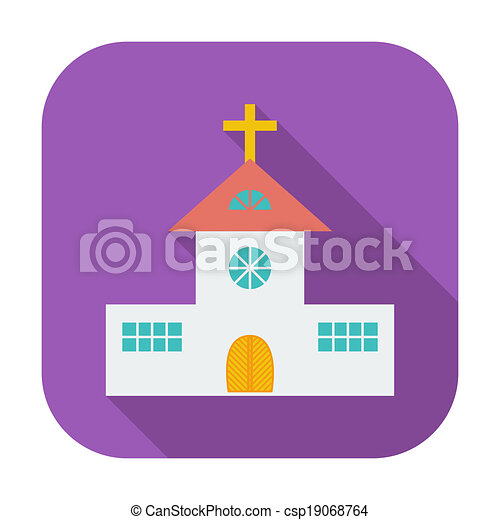 Church single flat icon. - csp19068764