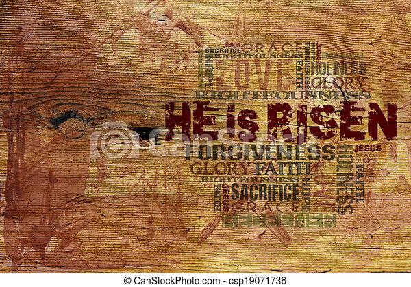 """He Is Risen"" Religious Background  - csp19071738"