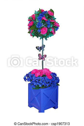 Decorative Artificial Flower in Pot  - csp1907313