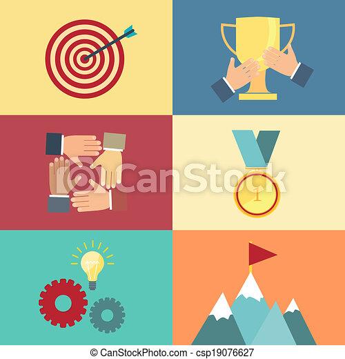achieving goal, success concept vector - csp19076627