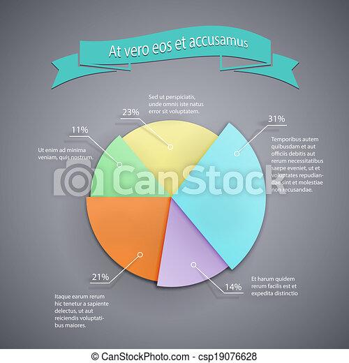 business pie chart template - csp19076628