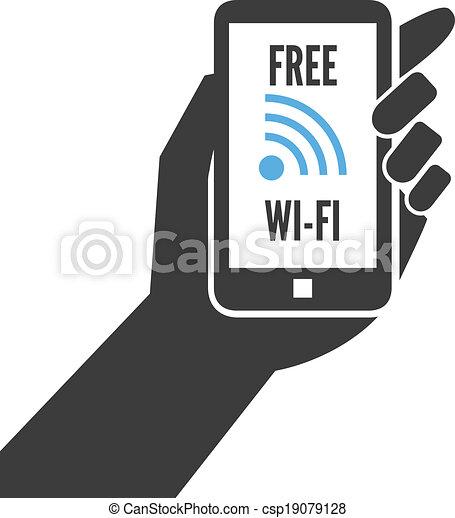 Smartphone Wi-Fi Clip Art