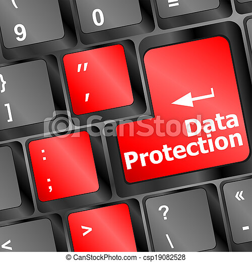 data protection button on the keyboard keys - csp19082528