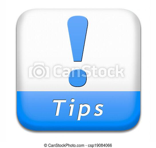 helpful tips button - csp19084066