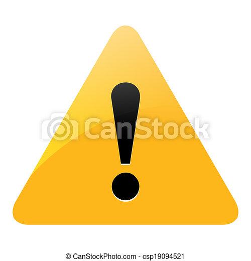 danger warning sign - csp19094521