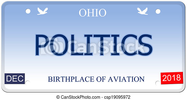 Politics Ohio Imitation License Plate - csp19095972