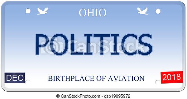 Politics Ohio Imitation License Plate - csp19095972