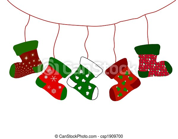 Stock de ilustration de navidad calcetines csp1909700 - Calcetines de navidad personalizados ...