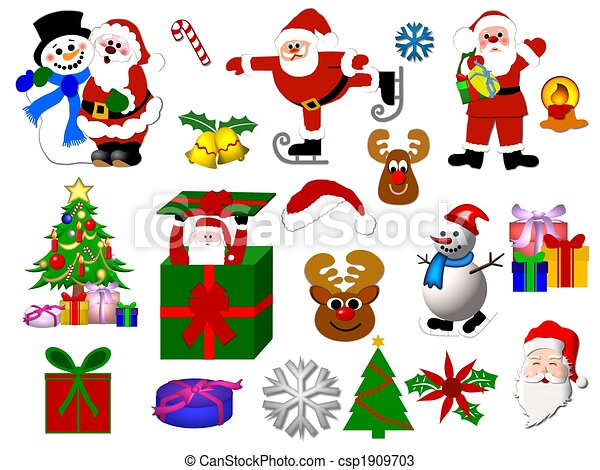drawings of christmas symbols isolated csp1909703 search. Black Bedroom Furniture Sets. Home Design Ideas