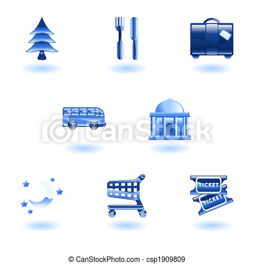 Travel and Tourism Icons - csp1909809