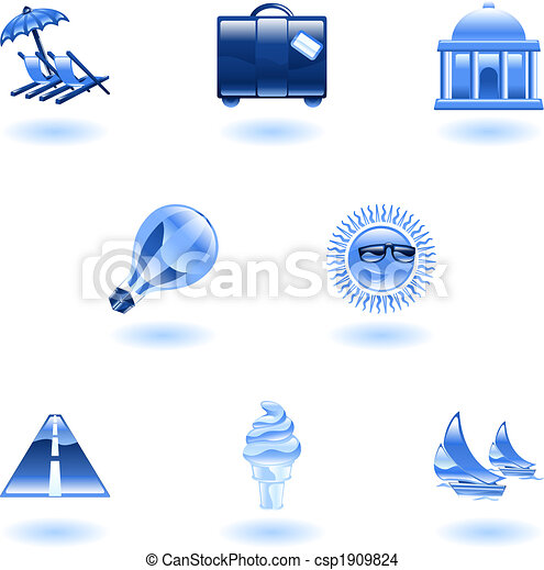 Travel and tourism icon set - csp1909824