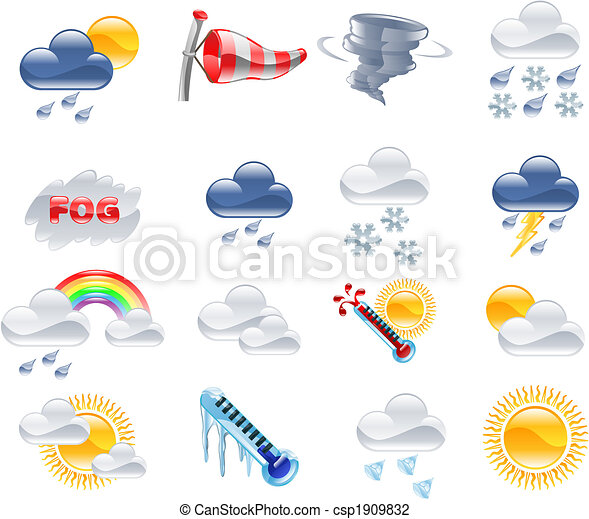 Weather forecast icons - csp1909832