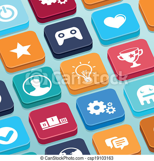 Apps Icons Vector Vector Vector Mobile App
