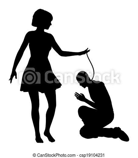 mujer de color humillación