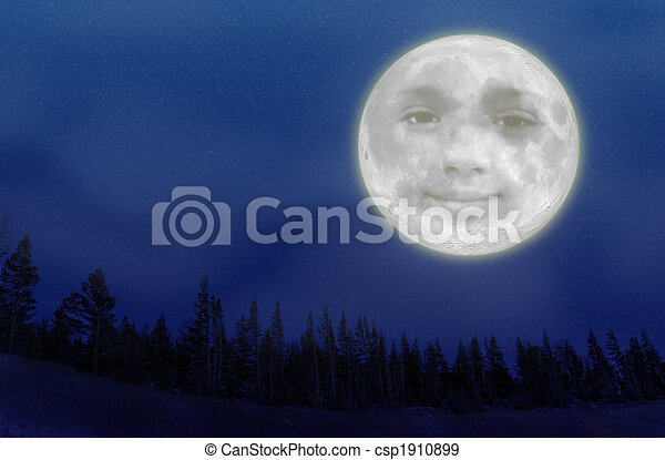 Stock Illustration of Full Moon - An illustration of a full moon ...
