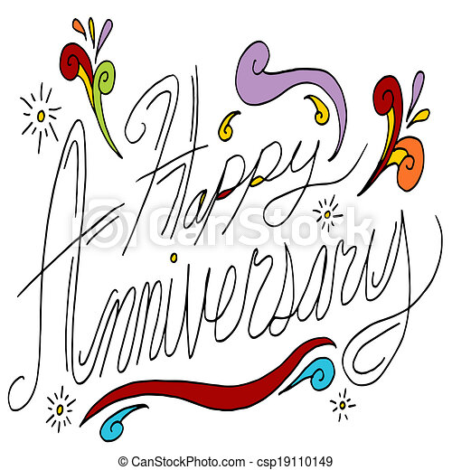 Eps Vector Of Happy Anniversary Message An Image Of