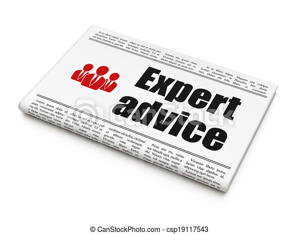 Law concept: newspaper with Expert Advice and Business People - csp19117543