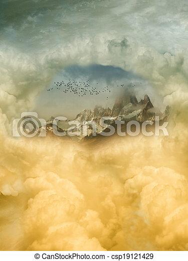 fantasie, landschaftsbild - csp19121429