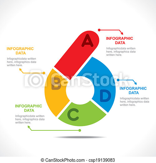 Vector of creative number 3 - creative number 6 info-graphics design ...