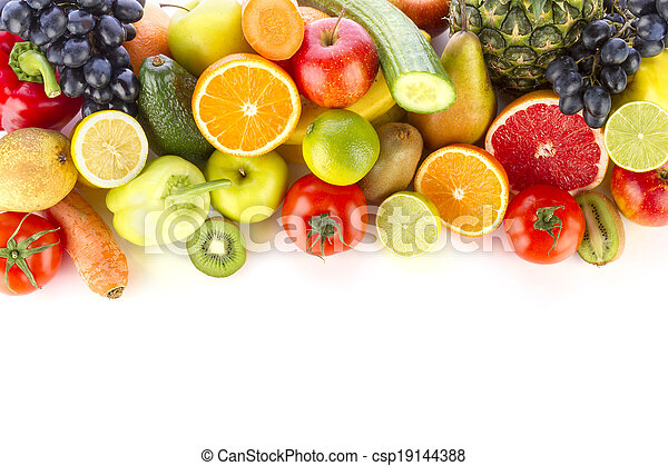 Fresh fruits and vegetables - csp19144388