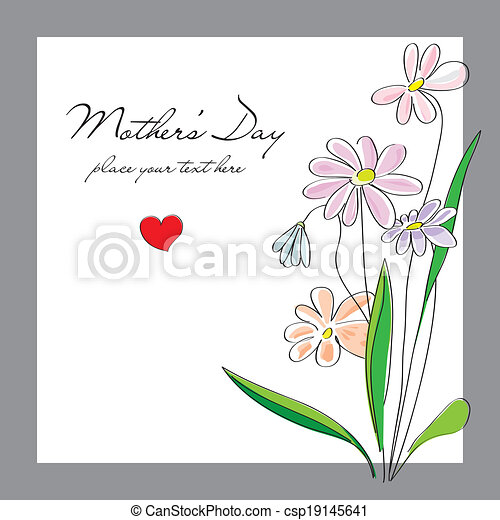 Flowers, card for a Mothers Day  - csp19145641