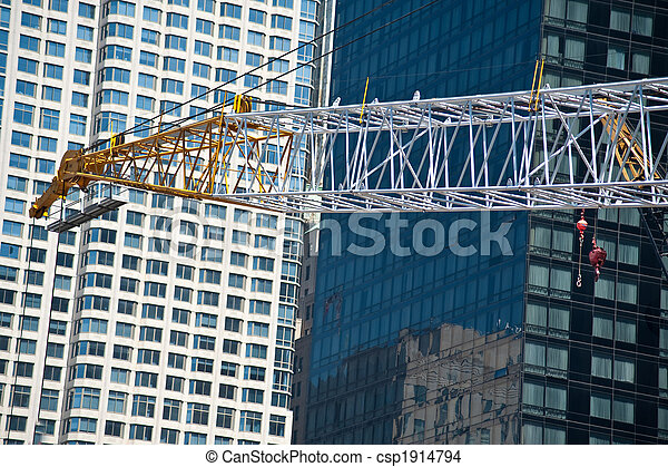 Construction cranes at World Trade Center site - csp1914794