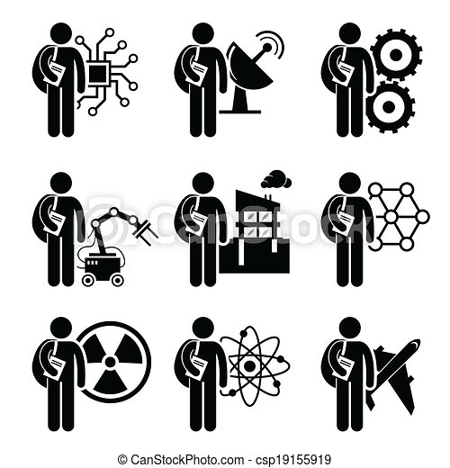 vector clip art  degree  engineering  set  human pictogram csp search