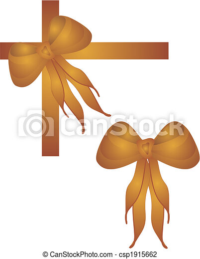 Gold bows and ties - csp1915662