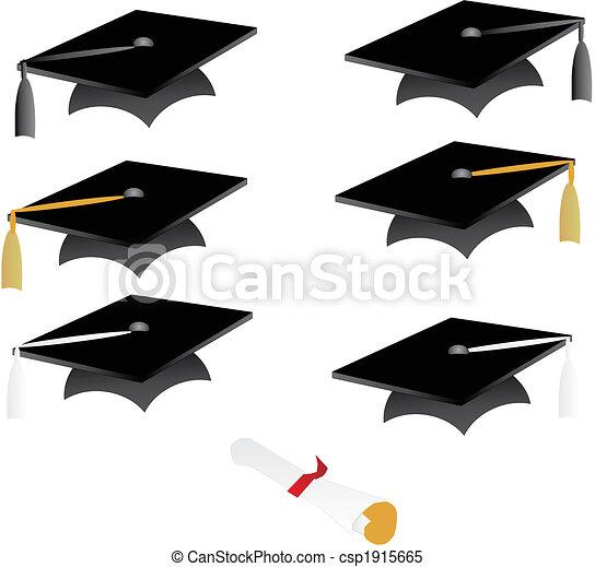 Graduation Cap and tassel - csp1915665