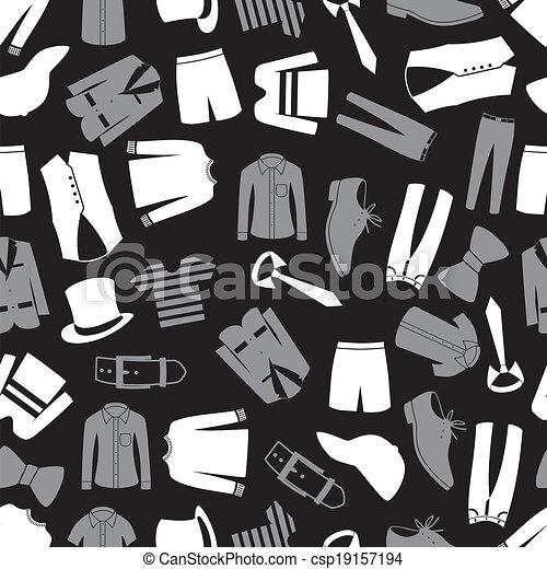 mens clothing seamless pattern eps10 - csp19157194
