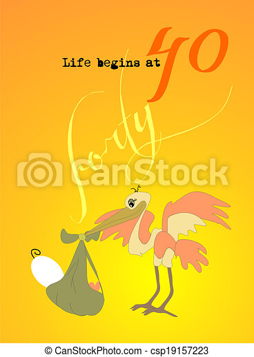 Clip Art of life begins at forty - sunrise - 40th birthday invitation... csp19157223 - Search ...