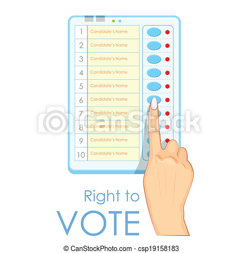 Electronic Voting Machines Clip Art